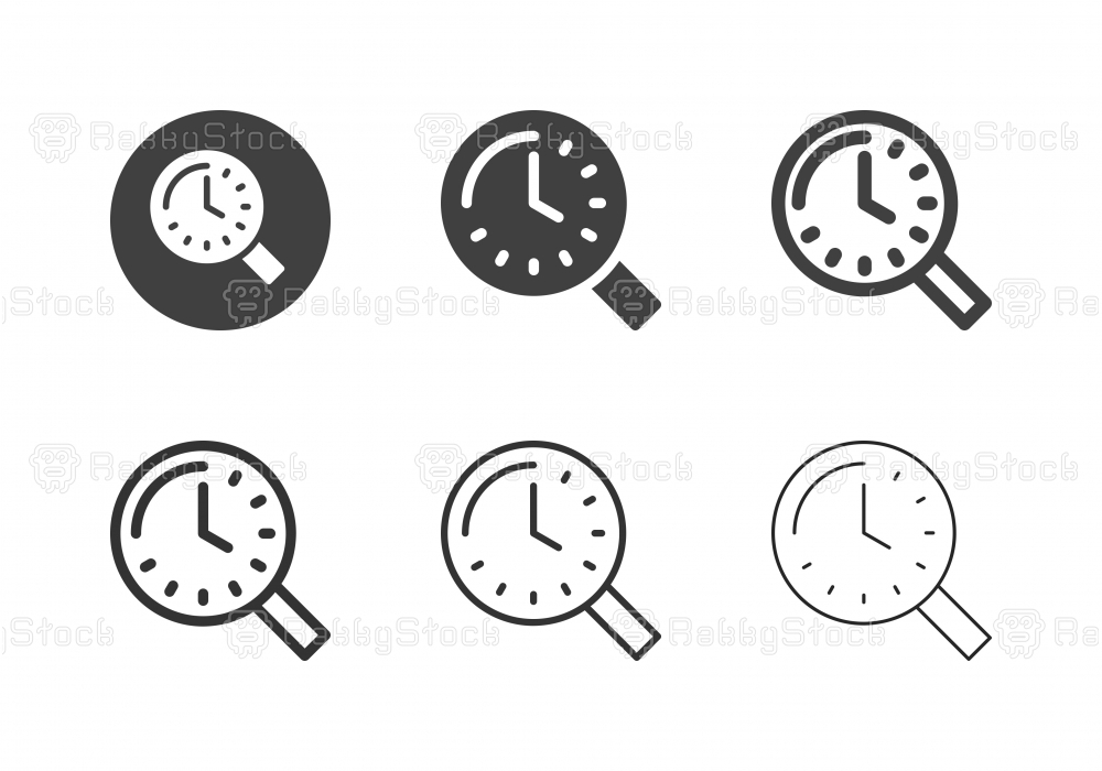 Searching Time Icons - Multi Series