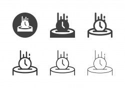 Saving Time Icons - Multi Series