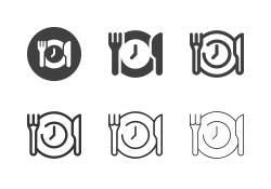 Dinner Time Icons - Multi Series