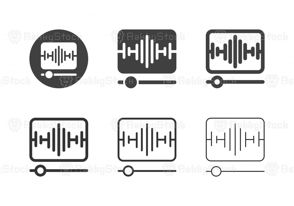 Music Player Icons - Multi Series