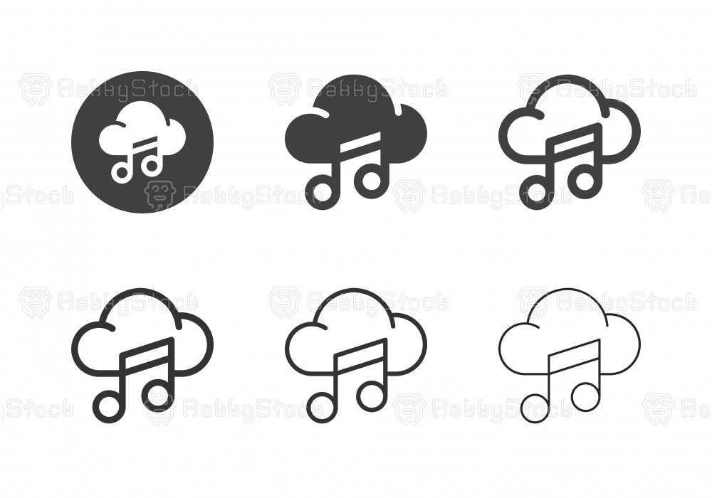 Cloud Music Icons - Multi Series