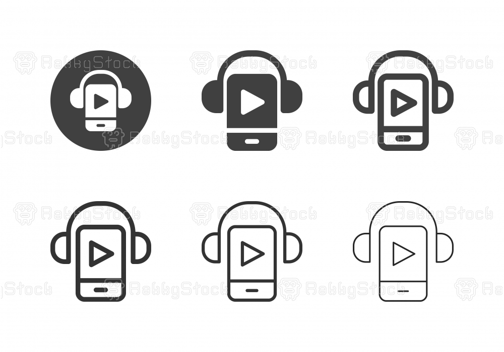 Mobile Music Player Icons - Multi Series