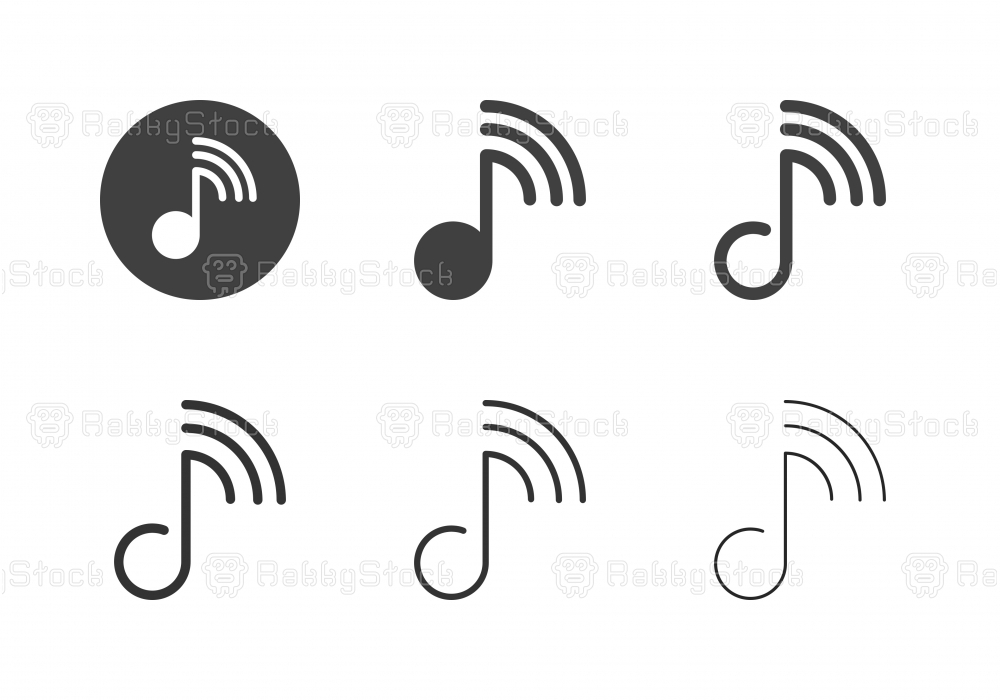 Online Music Icons - Multi Series