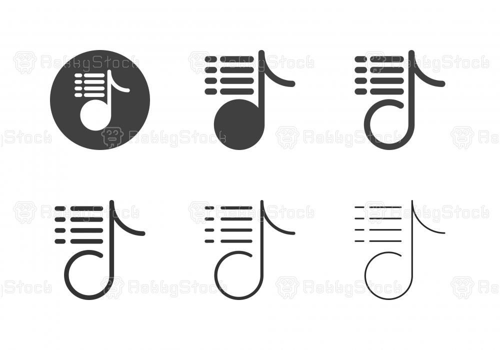 Music Playlist Icons - Multi Series
