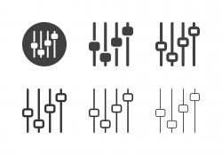 Sound Mixer Icons - Multi Series