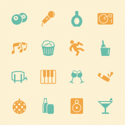 Pub and Bar Icons - Color Series   EPS10