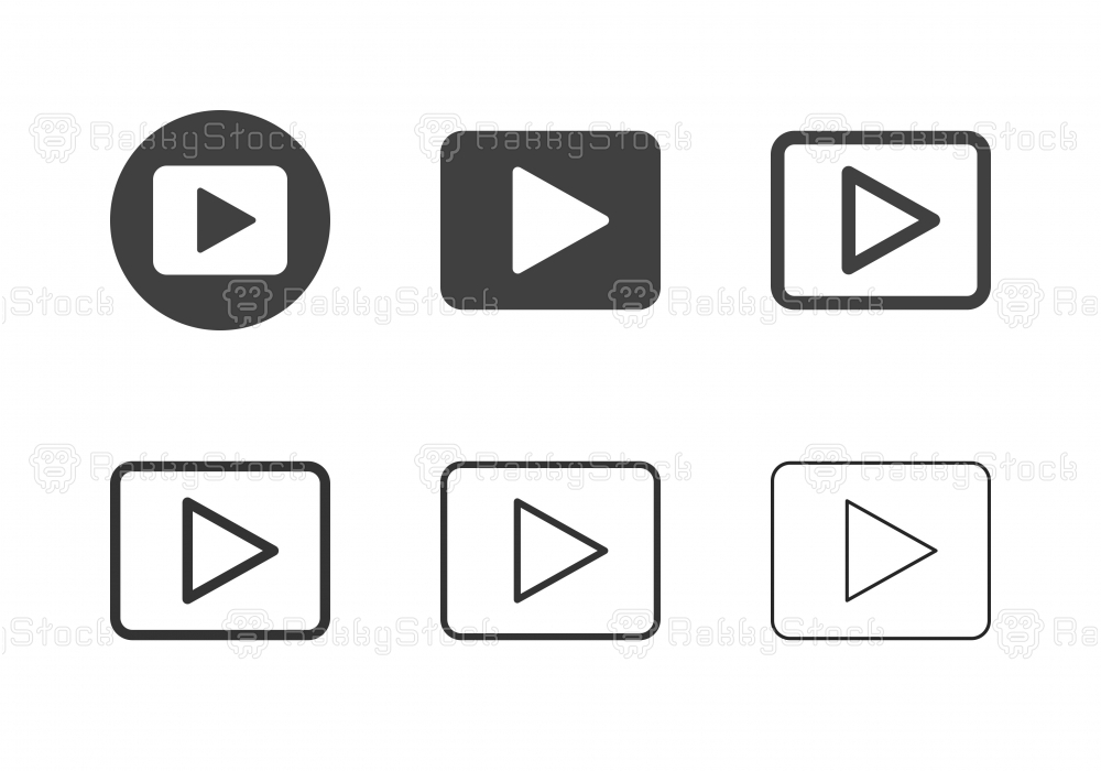 Play Button Icons - Multi Series