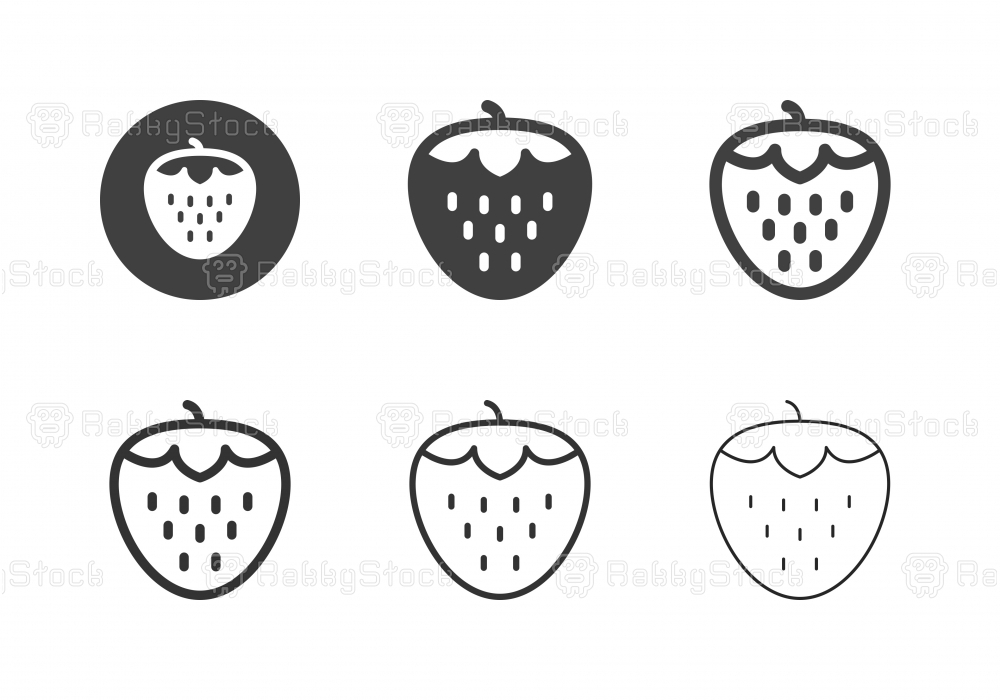 Strawberry Icons - Multi Series