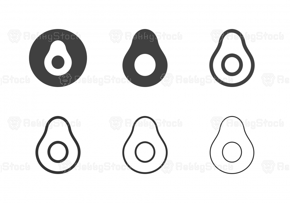 Avocado Icons - Multi Series