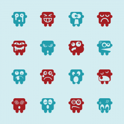 Emoticons Set 8 - Color Series | EPS10