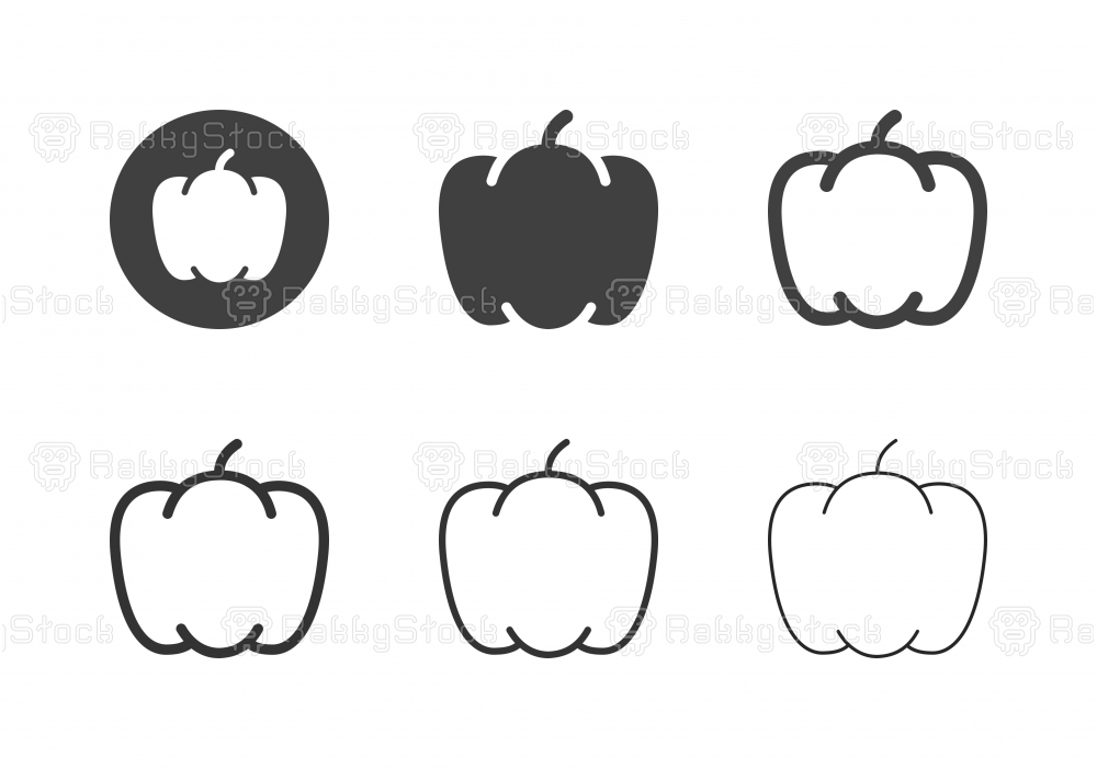 Bell Pepper Icons - Multi Series