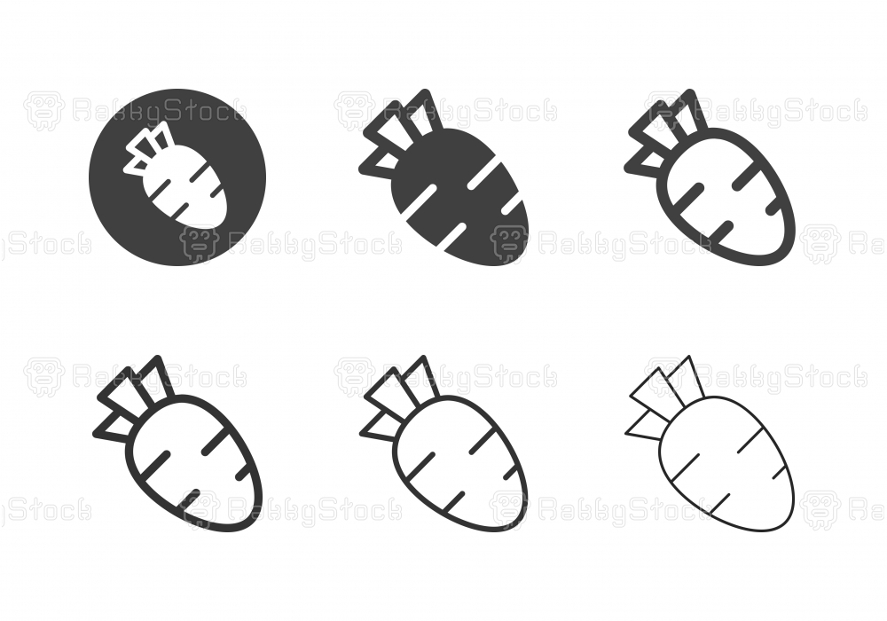 Carrot Icons - Multi Series