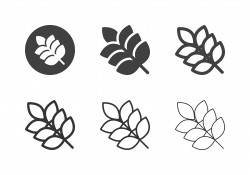 Rice Plant Icons - Multi Series