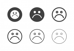 Bored Emoticon Icons - Multi Series