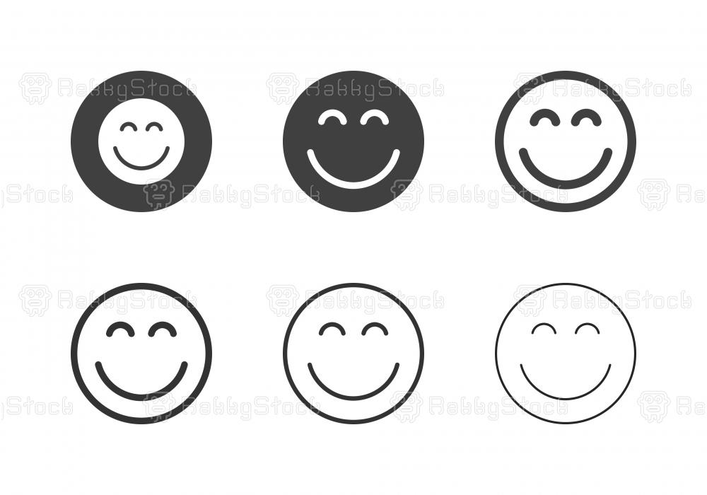 Smiley Emoji Icons - Multi Series