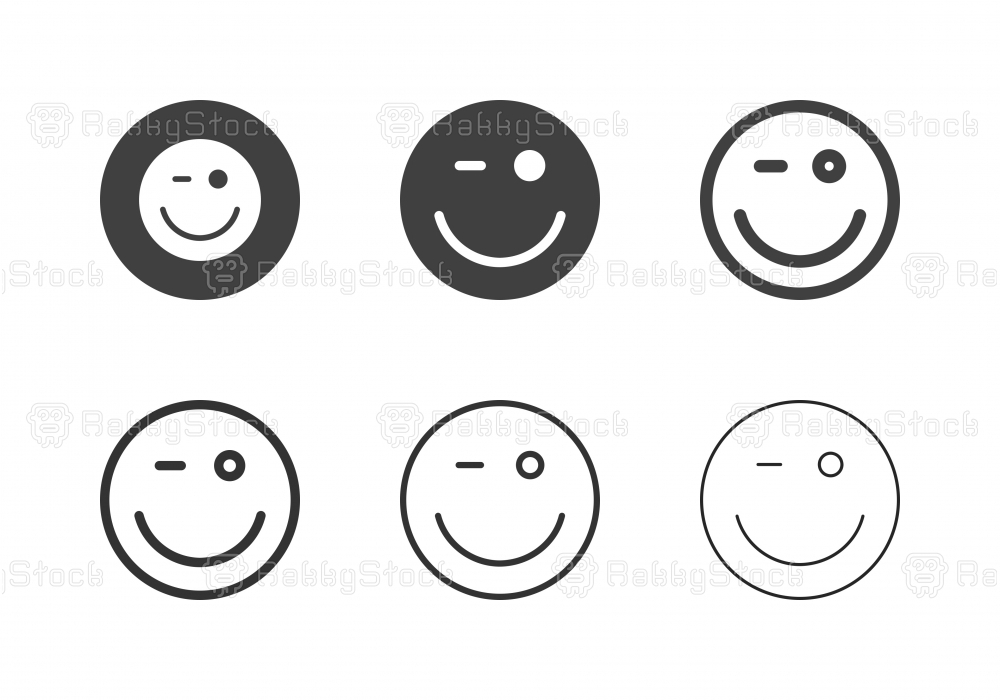 Smiling Face Icons - Multi Series