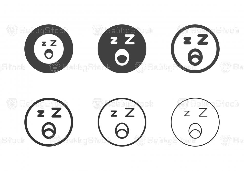 Sleepy Emoticon Icons - Multi Series