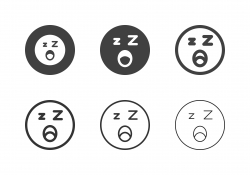 Sleepy Emoticon Icons - Multi Series