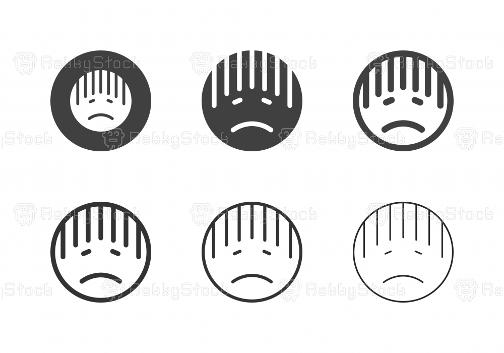 Sadly Emoticon Icons - Multi Series