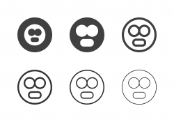 Stunned Emoji Icons - Multi Series