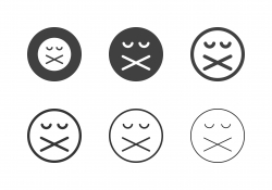 Shut up Emoticon Icons - Multi Series