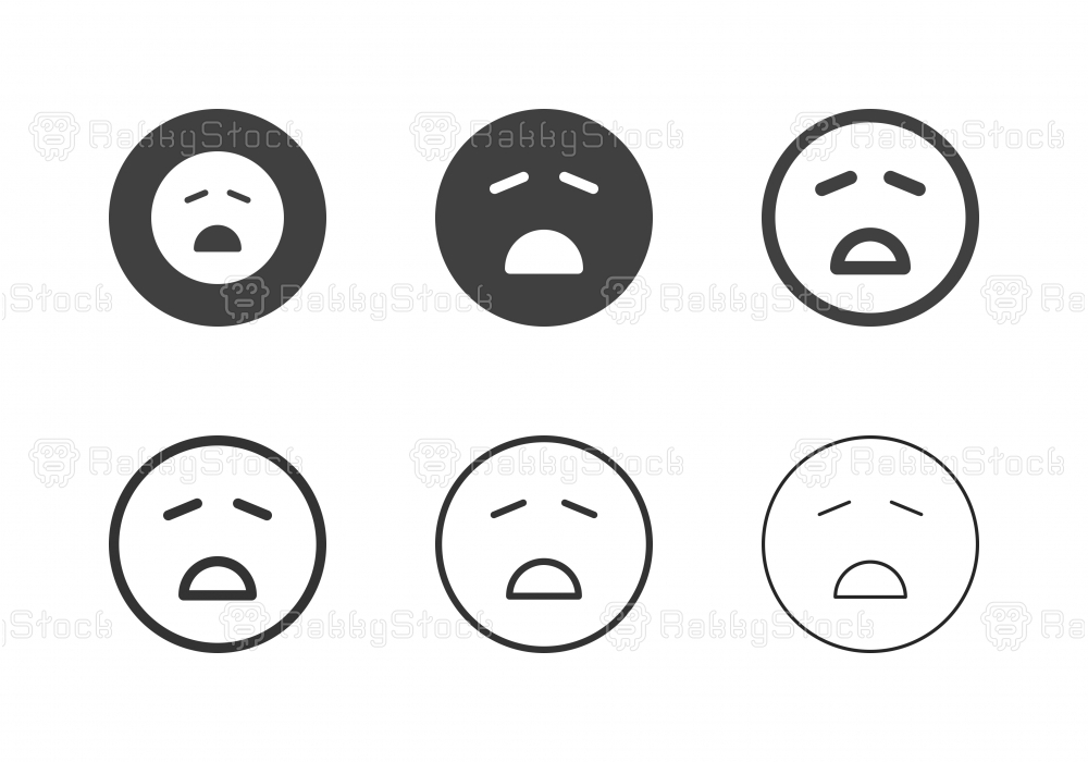 Dispirited Emoticon Icons - Multi Series