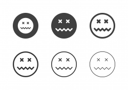 Fear Emoticon Icons - Multi Series