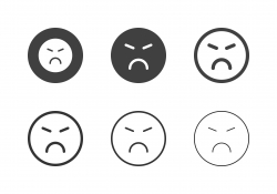 Angry Emoji Icons - Multi Series