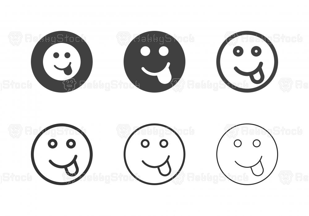 Cheeky Emoticon Icons - Multi Series