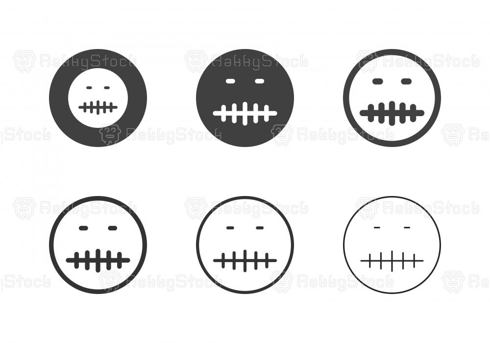 Keep Quiet Emoji Icons - Multi Series