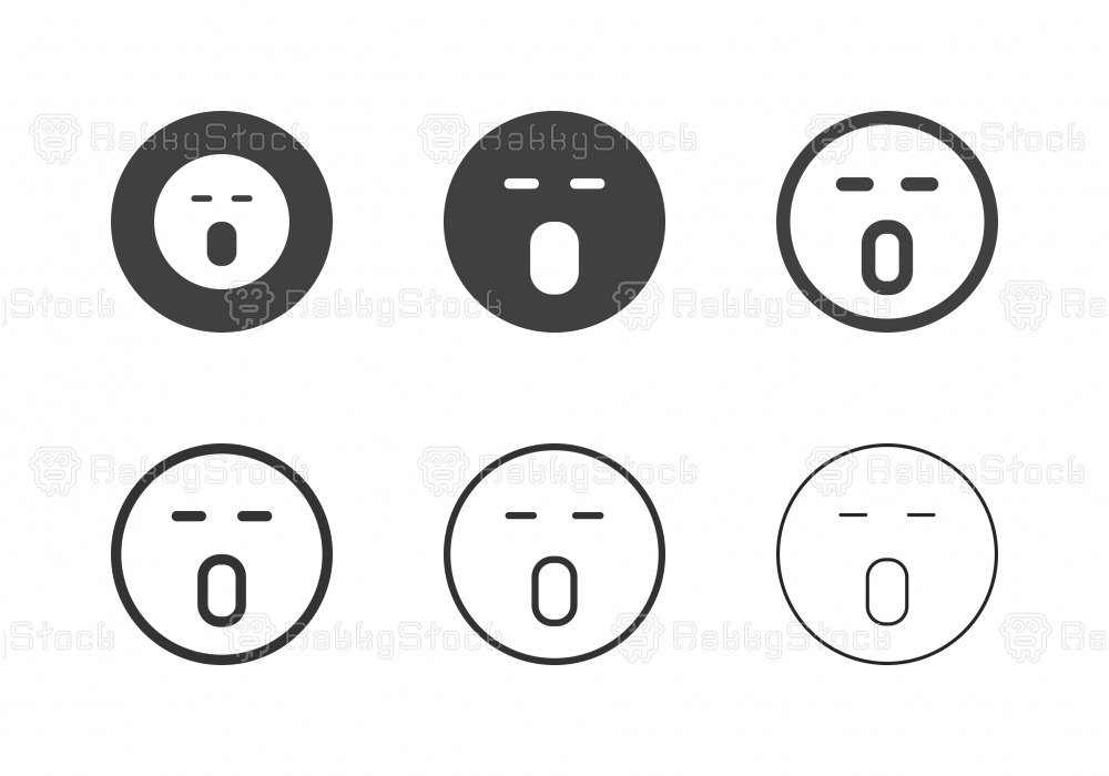 Wow Emoticon Icons - Multi Series