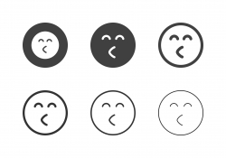 Cheerful Emoticon Icons - Multi Series