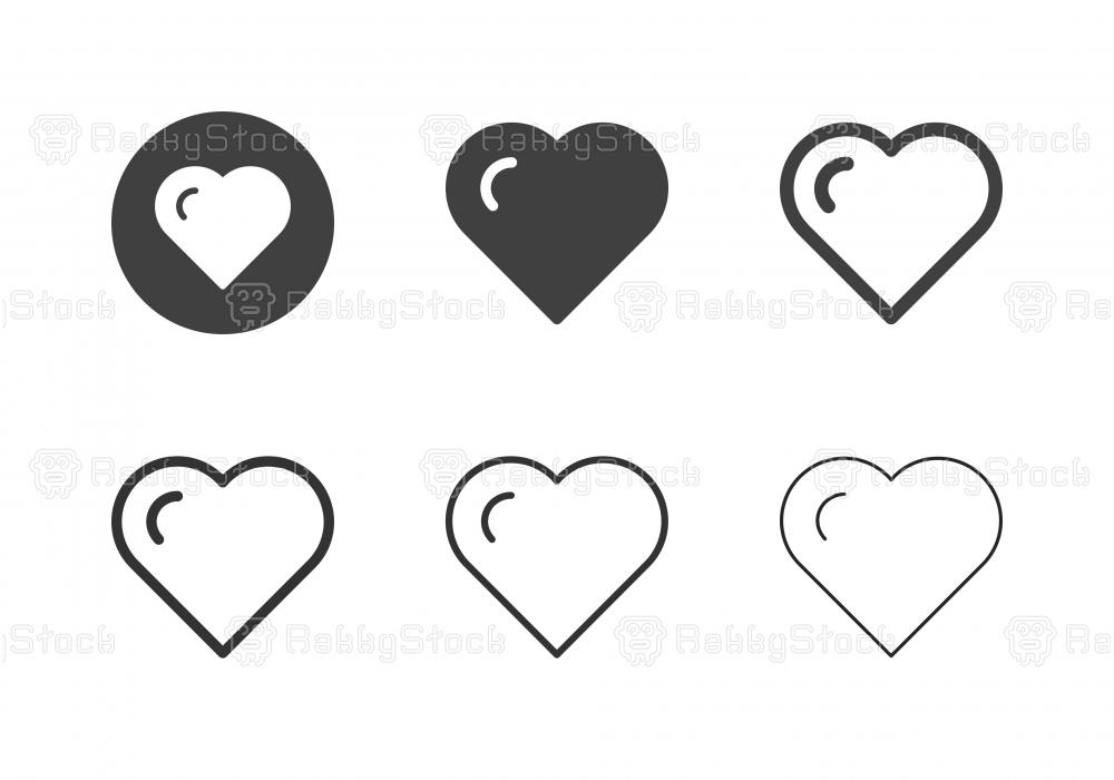 Heart Shape Icons - Multi Series