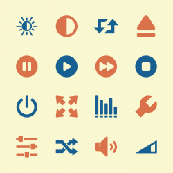 Media Player Icons - Color Series | EPS10