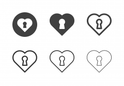 Heart Lock Icons - Multi Series