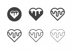 Heart Melted Icons - Multi Series