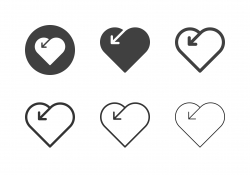 Heart Shape Arrow Icons - Multi Series