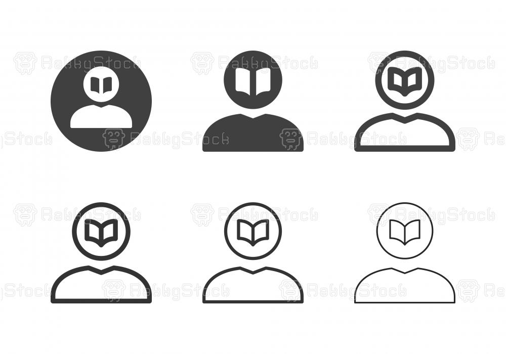 Human Head Book Icons - Multi Series