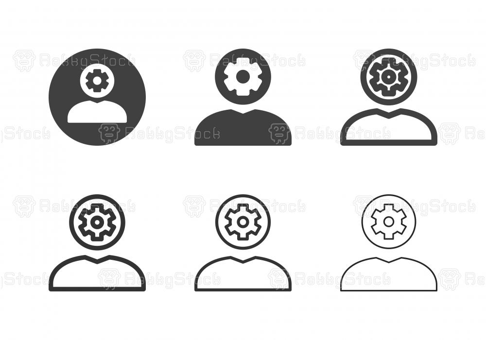 Human Head Gear Icons - Multi Series
