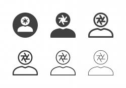 Human Head Aperture Icons - Multi Series
