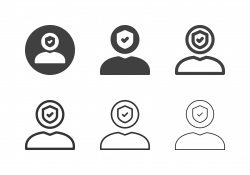 Human Head Shield Icons - Multi Series