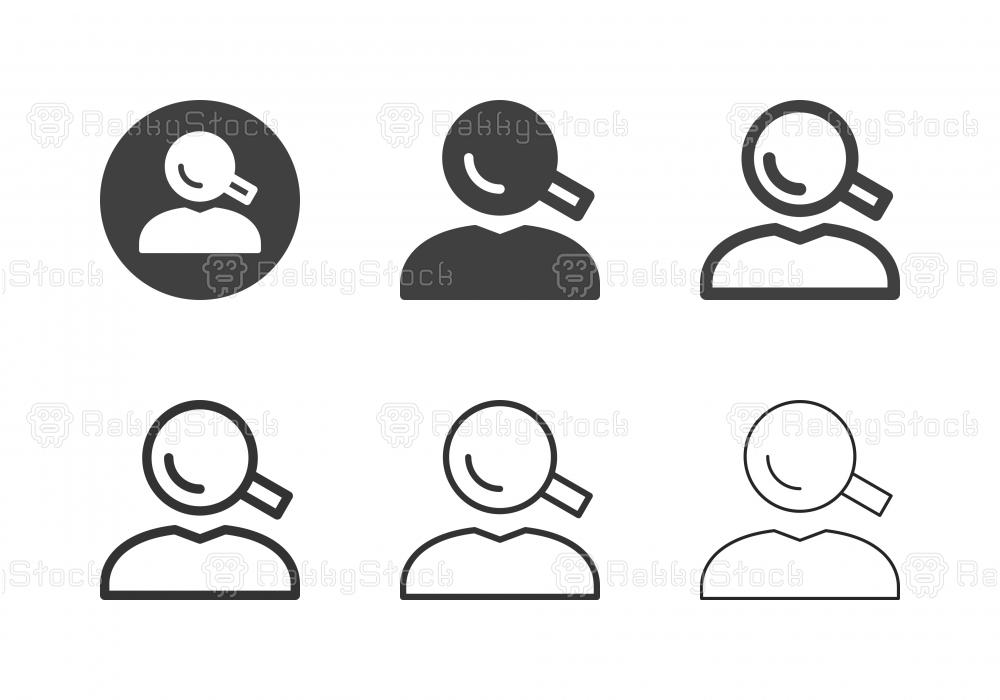 Human Head Searching Icons - Multi Series