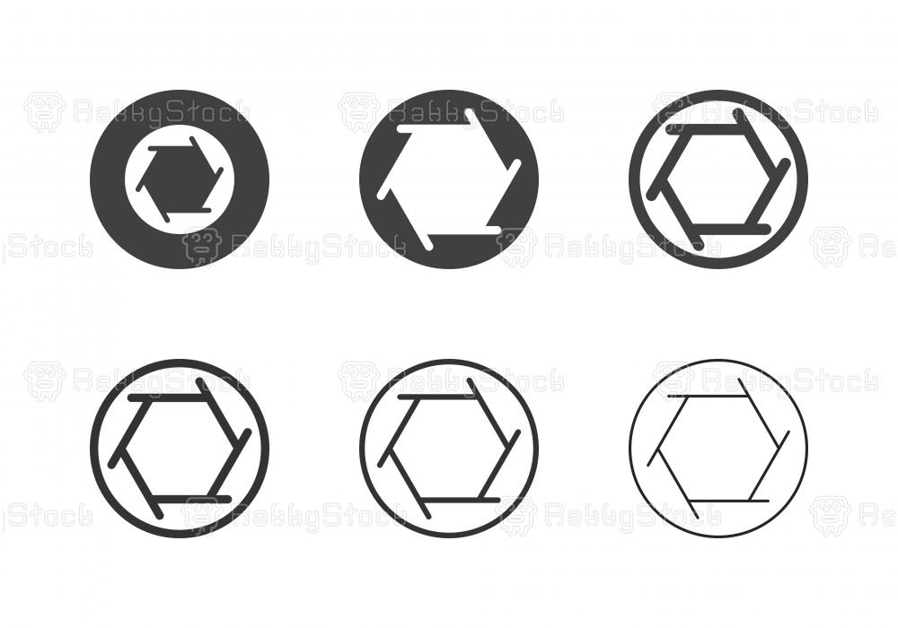 F2.8 Camera Aperture Icons - Multi Series