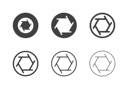 F4 Camera Aperture Icons - Multi Series