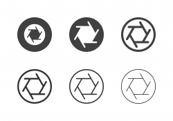 F5.6 Camera Aperture Icons - Multi Series
