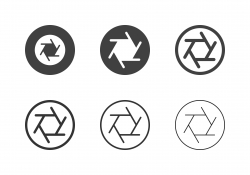 F8 Camera Aperture Icons - Multi Series