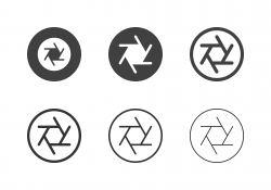 F11 Camera Aperture Icons - Multi Series