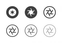 F16 Camera Aperture Icons - Multi Series