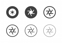 F22 Camera Aperture Icons - Multi Series