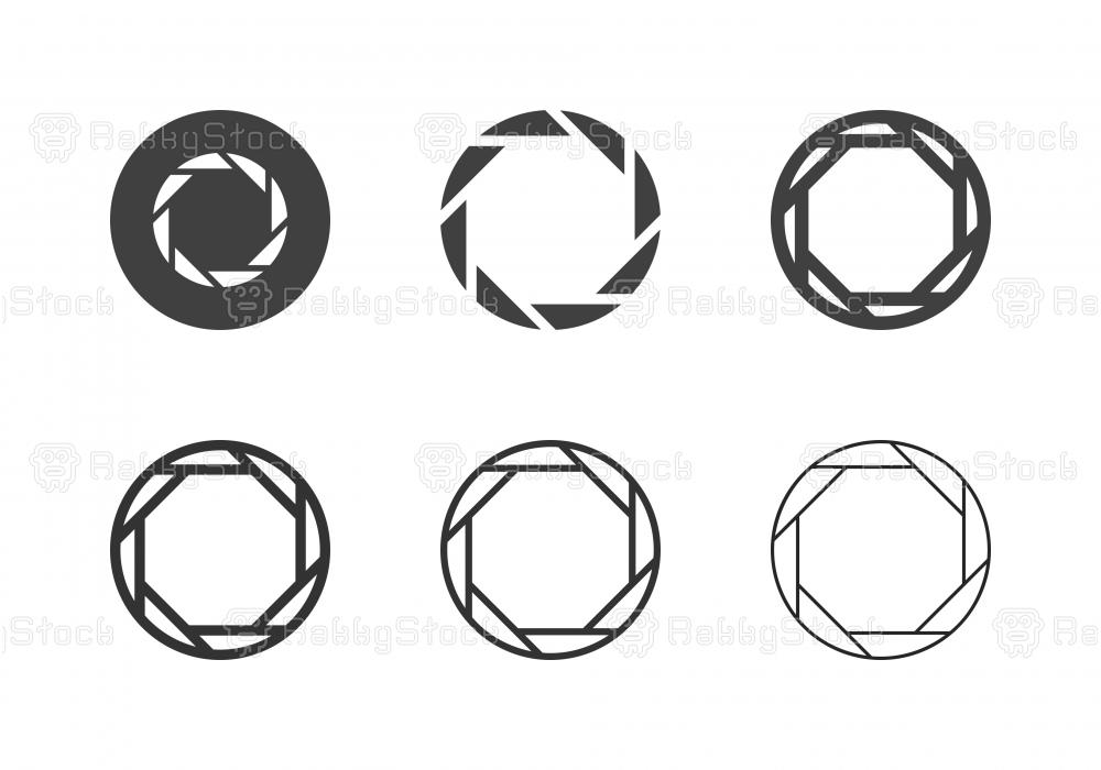 F1.4 Camera Exposure Icons - Multi Series